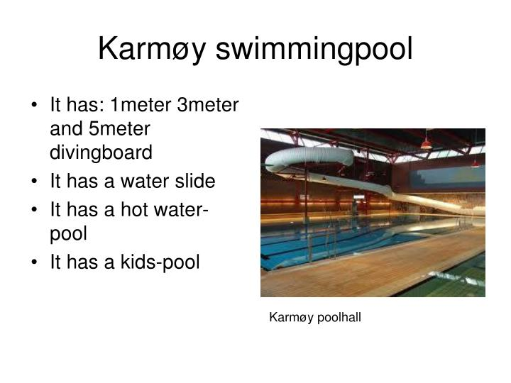 Karm y swimmingpool