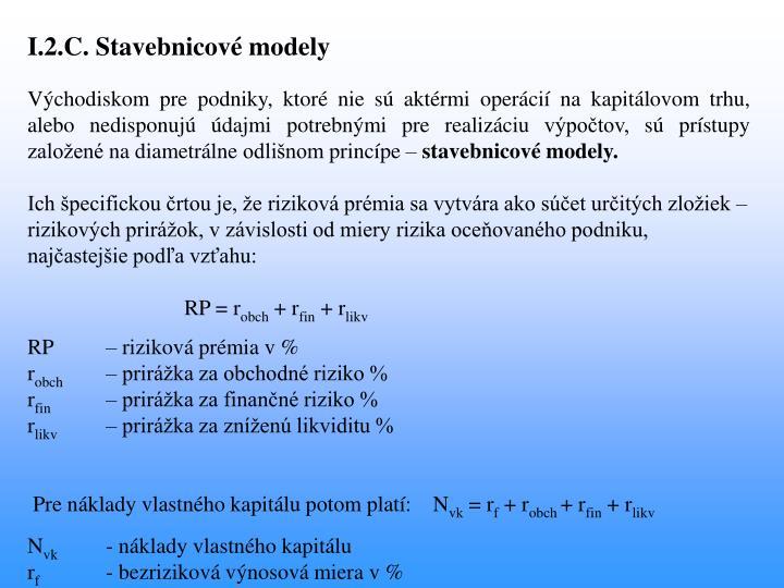 I.2.C. Stavebnicové modely
