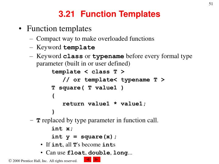 3.21	Function Templates