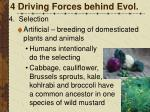 4 driving forces behind evol6