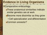 evidence in living organisms1