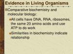 evidence in living organisms7