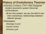 history of evolutionary theories1