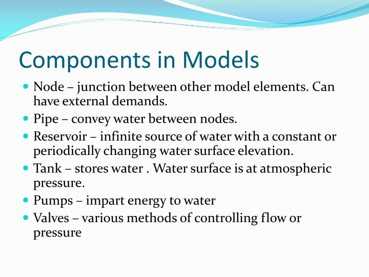 Components in Models