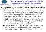 progress of ewg istwg collaboration