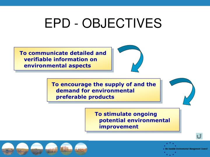 EPD - OBJECTIVES