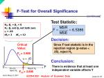 f test for overall significance1