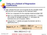 tests on a subset of regression coefficients1
