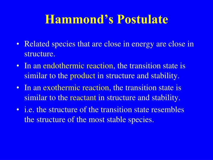 Hammond's Postulate