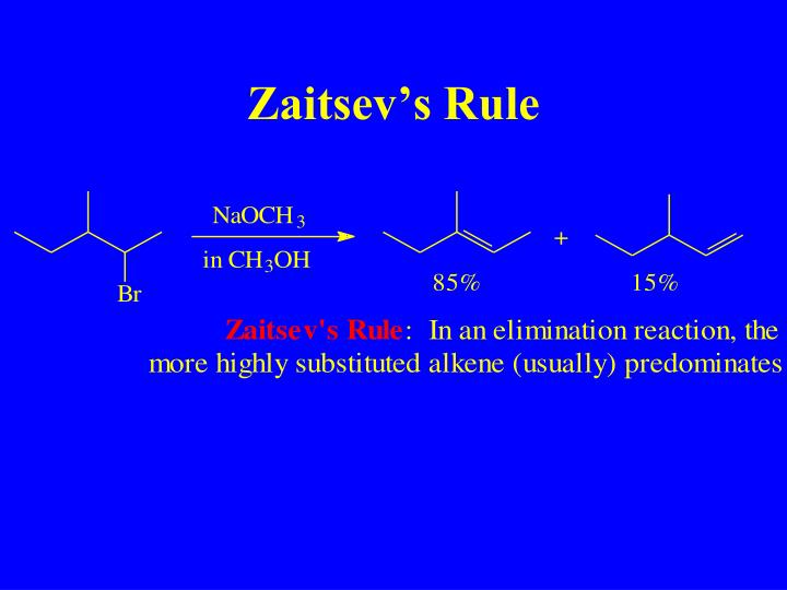 Zaitsev's Rule