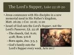 the lord s supper luke 22 18 20