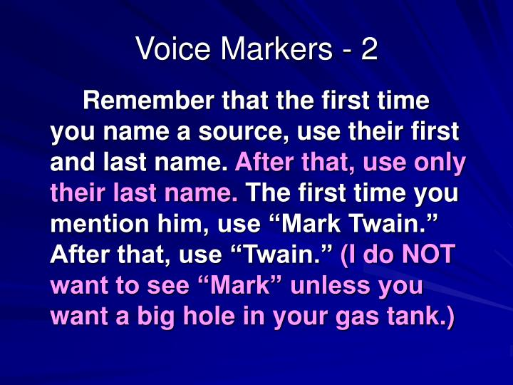 Voice Markers - 2