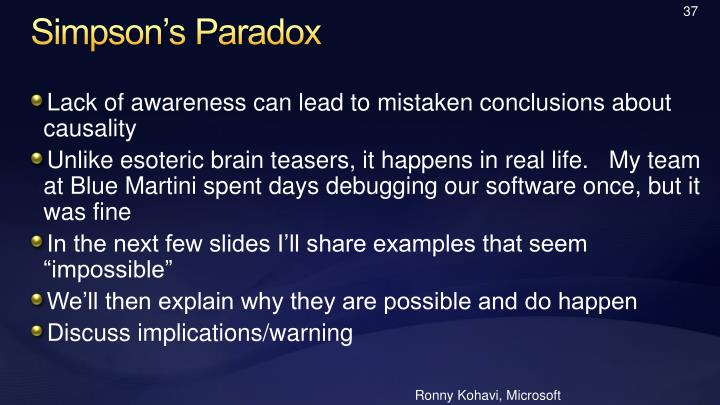 Ronny Kohavi, Microsoft