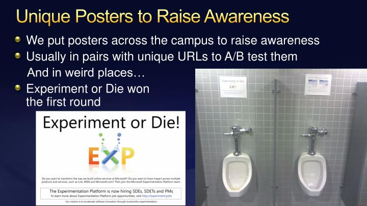 Unique Posters to Raise Awareness