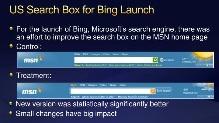 US Search Box for Bing Launch