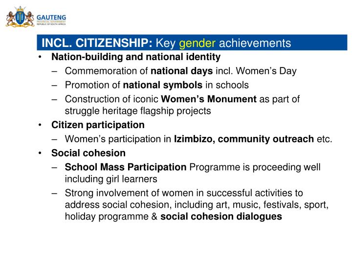 INCL. CITIZENSHIP: