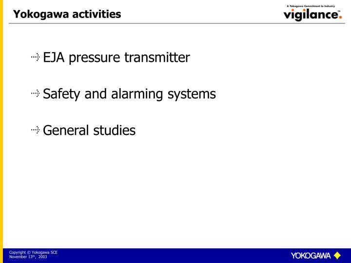 Yokogawa activities