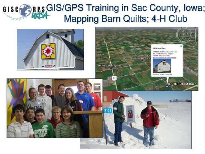 GIS/GPS Training in Sac County, Iowa; Mapping Barn Quilts; 4-H Club
