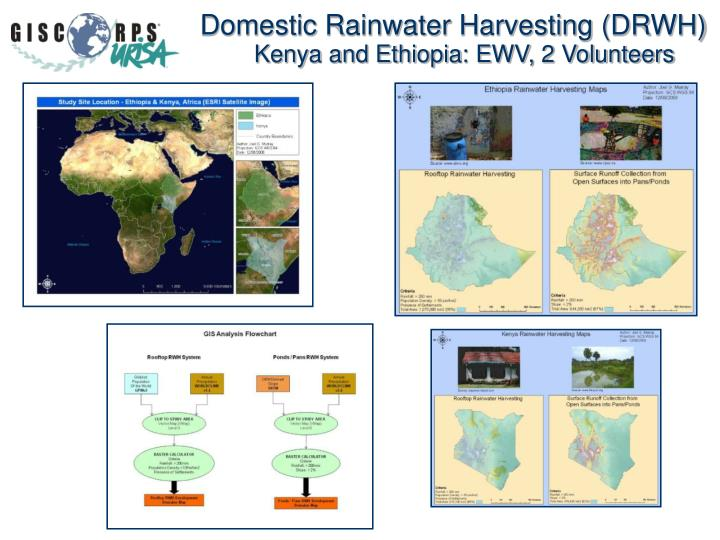 Domestic Rainwater Harvesting (DRWH)