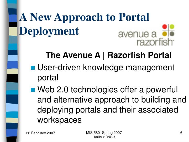 A New Approach to Portal Deployment