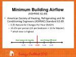 minimum building airflow ashrae 62 89