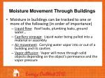 moisture movement through buildings