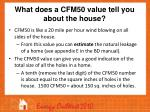 what does a cfm50 value tell you about the house