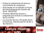 lectura reading eog