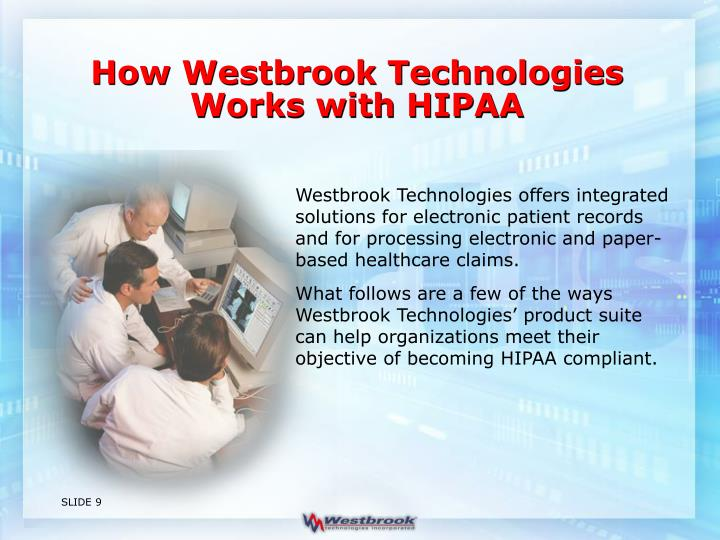 How Westbrook Technologies Works with HIPAA