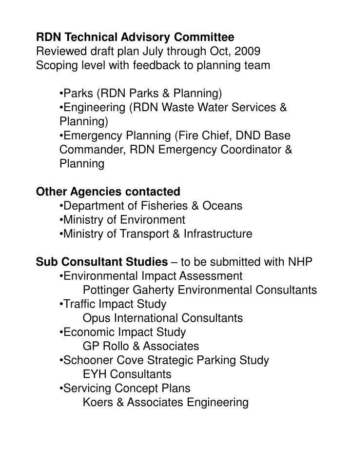 RDN Technical Advisory Committee