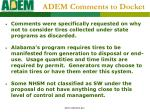 adem comments to docket2