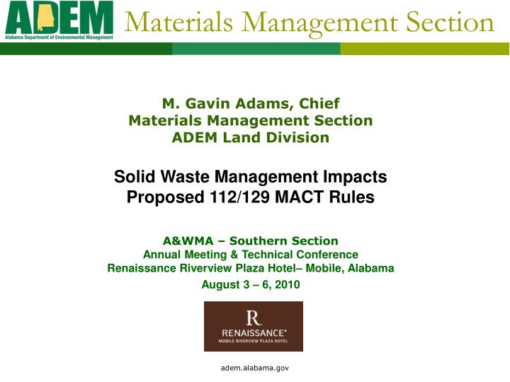 materials management section n.
