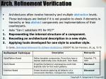 arch refinement verification