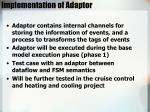implementation of adaptor