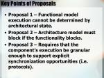 key points of proposals