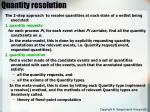 quantity resolution