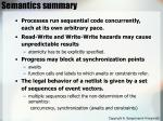 semantics summary