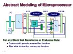 abstract modeling of microprocessor