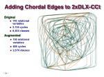adding chordal edges to 2xdlx cct