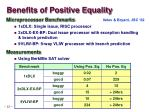 benefits of positive equality