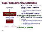 eager encoding characteristics