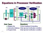 equations in processor verification