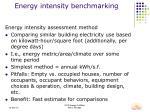 energy intensity benchmarking