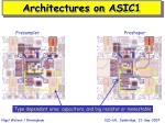 architectures on asic1