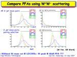 compare pfas using w w scattering