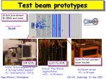 test beam prototypes