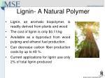 lignin a natural polymer