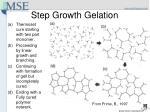 step growth gelation