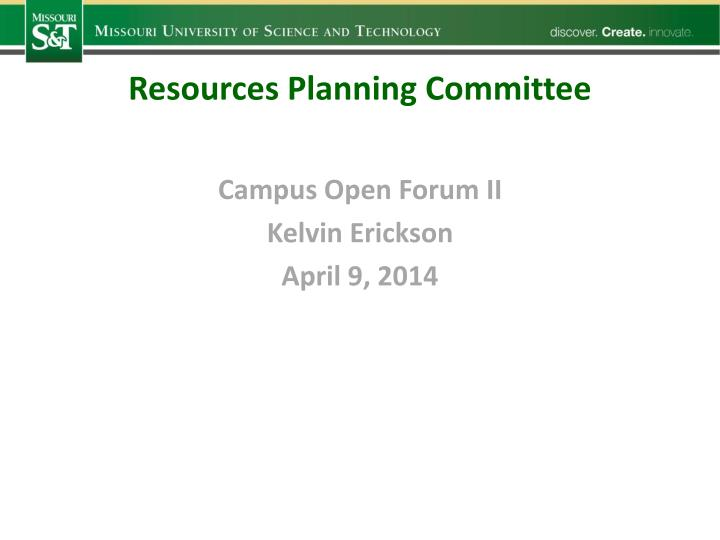 Resources Planning Committee