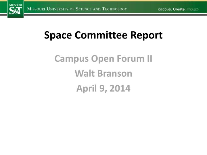 Space Committee Report